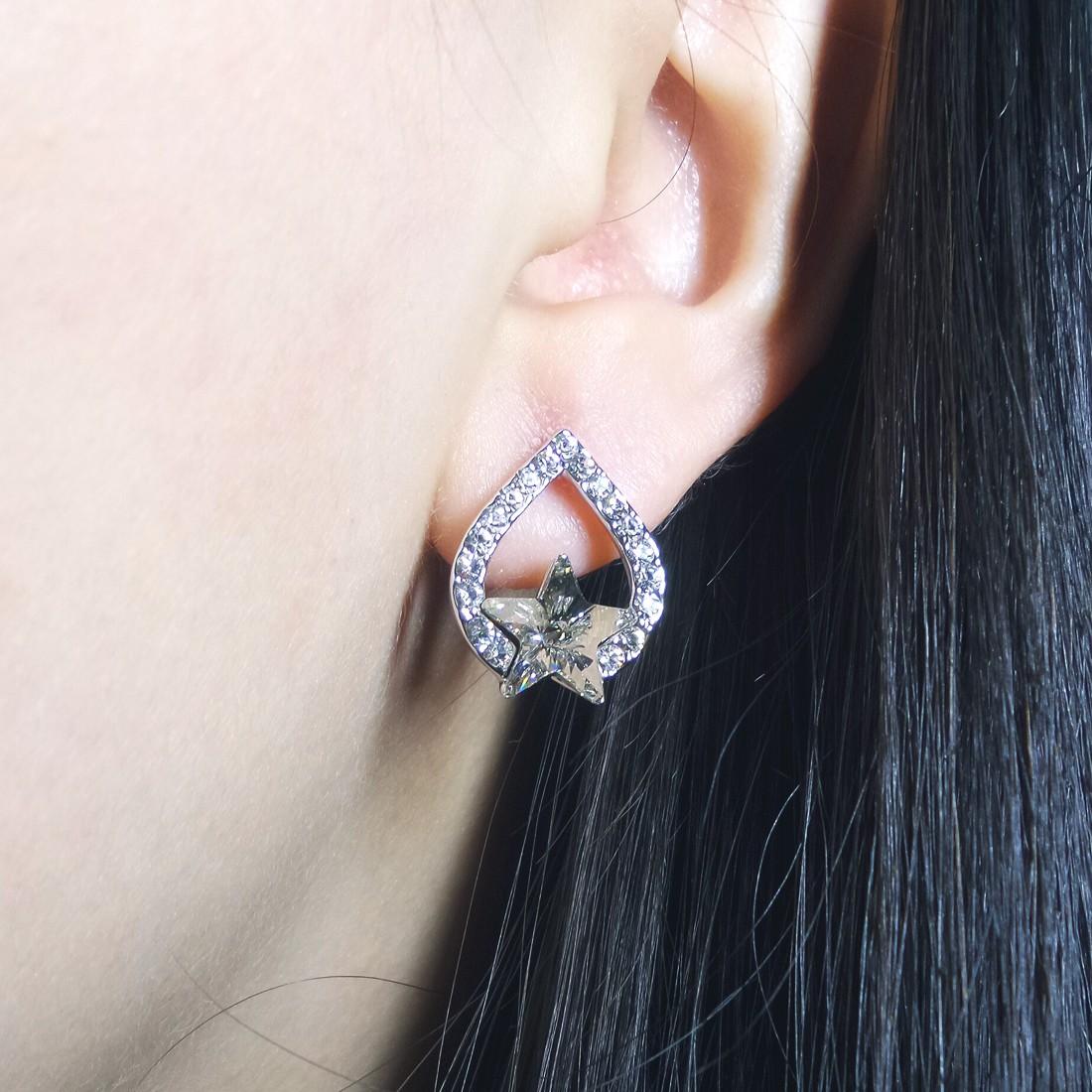 Tough Star Pierced Earring - AS15301