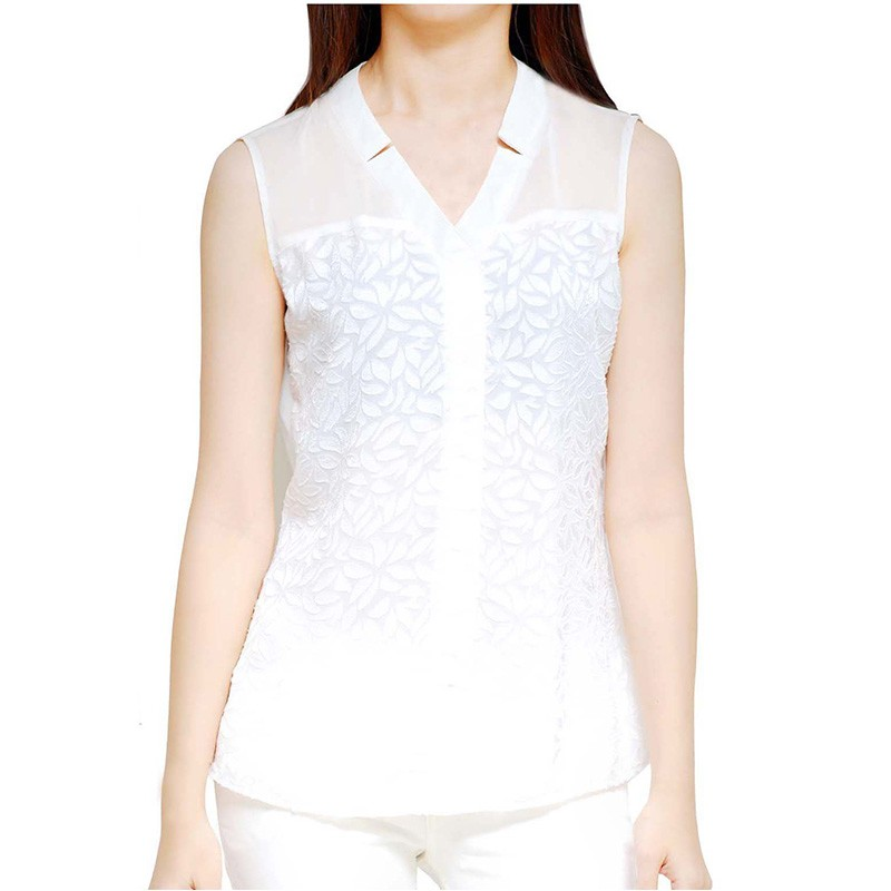 Chiffon Sleeveless Blouse - WT13009