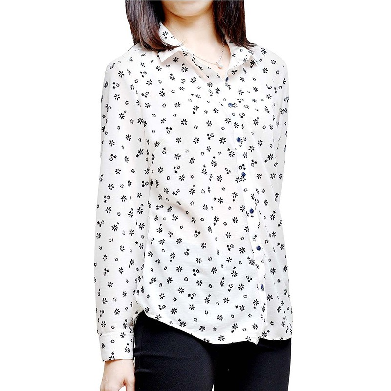 Flower Detailed Flowy Blouse - WT13014